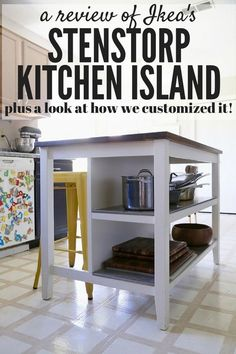 The STENSTORP island from IKEA is so beautiful and versatile! Here's a review of it and a quick look at an easy way to personalize it and make it your own!