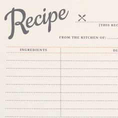 layout for recipes | recipes | Pinterest