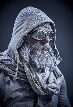 This is me when I go snowboarding, lots of snow in my beard Fallout, Apocalypse World, Zombie Apocalypse, Mad Max, Cyberpunk, Character Inspiration, Character Design, Science Fiction, Post Apocalyptic Costume