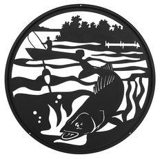 Hand Made Fish Fishing Walleye Scenic Scenic Art by swenproducts ELLIOTT