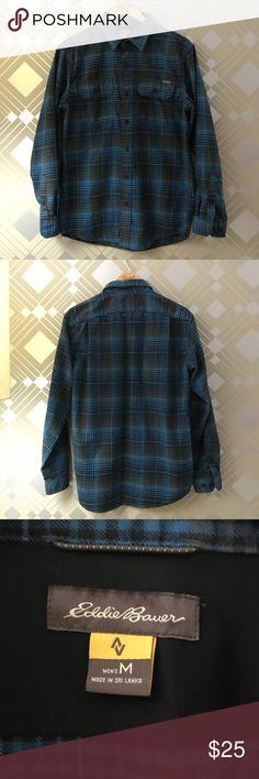 Eddie Bauer Flannel Plaid Long Sleeve Button Shirt Men s Eddie Bauer plaid  flannel shirt. Button 235205abc