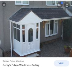 Double Glazing and Replacement Windows supplied and fitted by quality installers local to you. Also tips and advice on conservatories, double glazing replacement windows. Upvc Porches, Front Porch Design, Porch Designs, Derby, Gazebo, Shed, Outdoor Structures, Home, Image