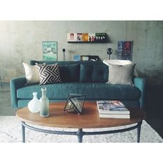 Living room is all set up. Dinner parties to ensue! #mywestelm