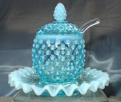 Really want great helpful hints on kitchens and dining rooms? Head out to my amazing website! Fenton Glassware, Fenton Milk Glass, Antique Glassware, Fenton Lamps, Antique Dishes, Vintage Dishes, Cut Glass, Glass Art, Glass Dishes