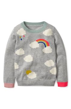 Free shipping and returns on Mini Boden Fun Sweater (Toddler Girls, Little Girls & Big Girls) at Nordstrom.com. She's sure to have a sunny disposition no matter the weather thanks to this cashmere-softened intarsia-knit sweater.