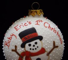 Personalized Babys First Christmas  Custom by RobinHarley64, $15.95