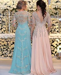 2018 Sexy Mother Of The Bride Dresses Jewel Neck Long Sleeves Silver Beaded Lace Appliques Beaded Chiffon Plus Size Party Dress Evening Gown Pink Evening Dress, Chiffon Evening Dresses, Evening Gowns, Halter Dresses, Prom Dresses, Linen Dresses, Beach Dresses, Fall Dresses, Mother Of The Bride Dresses Long