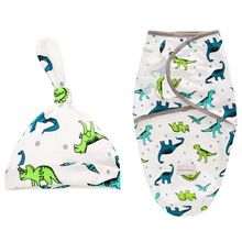 Dinosaur Cotton infant newborn baby swaddle wrap and hat set – Urban-Emerald Baby Receiving Blankets, Swaddling Blankets, Miracle Baby, Baby Cocoon, Swaddle Wrap, Sleep Sacks, Sleeping Bag, Baby Month By Month, 6 Months