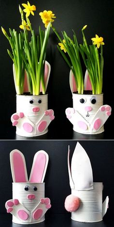 SAVING IDEAS - Creation, Recycling: Bring hyacinth and crafts crafts day crafts crafts Valentines Bricolage, Valentines Diy, Bunny Crafts, Easter Crafts For Kids, Easy Crafts, Diy And Crafts, Arts And Crafts, Creative Crafts, Saint Valentin Diy