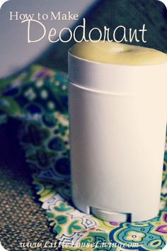 How to make your own Homemade Deodorant that really works!