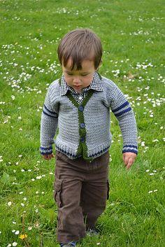 Free pattern Ravelry: Boys Varsity Sweater pattern by Shannon Mullett-Bowlsby