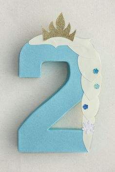 Frozen Party Decoration - Elsa Number or Letter (17.00 USD) by LittleABCDesigns