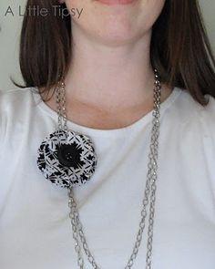 fabric flowers jewelry tutorial