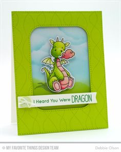 Magical Dragons Stamp Set and Die-namics, Whimsical Waves Background, Inside & Out Stitched Rounded Rectangle STAX Die-namics, Blueprints 15 Die-namics, Blueprints 27 Die-namics - Debbie Olson Card Making Inspiration, Making Ideas, Cloud Stencil, Mft Stamps, Get Well Cards, Dragons, Animal Cards, Cards For Friends, Fantasy