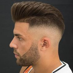 Pompadour with High Skin Fade and Shape Up