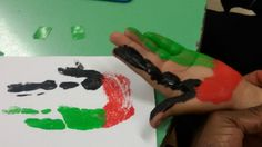 UAE flag activity for national day or the letter Ff.