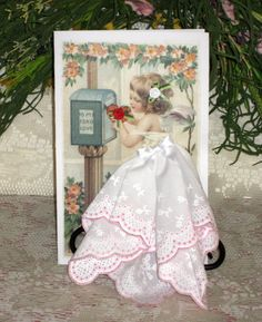 To My Fond Love Keepsake Hanky Card