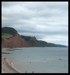 At Sidmouth, where several women authors in the lived or holidayed. They included Jane Austin, Elizabeth Barrett Browning and Philippa (Katie) Powys. Authors, Writers, Visit Devon, Elizabeth Barrett Browning, Texts, Beach, Places, Life, Outdoor