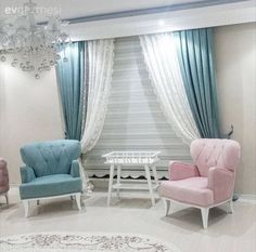 The sweet lady's sweet house. - Decoration For Home Living Room Sofa, Living Room Decor, Style At Home, Sofa Design, Interior Design, Drawing Room Furniture, Classy Living Room, Home Ceiling, Curtain Designs