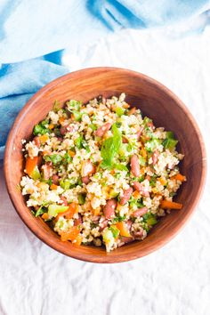 This healthy millet salad made with foxtail millet, beans, mix veggies and herbs is healthy, delicious, filling and affordable. Vegan & Gluten free