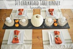 DIY Chalkboard Table Runner