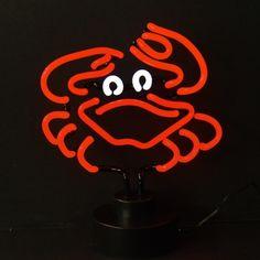 Neon Sculptures - Crab Neon Sculpture