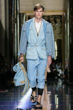 Olivier Rousteing's spring designs for men.