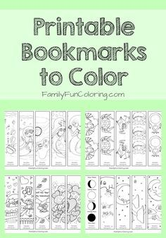 Printable Bookmarks to Color #coloringpages #printables                                                                                                                                                     More