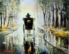 'Morning Fog' by Gleb Goloubetski Oil on Canvas 80cm x 100cm