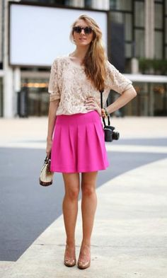 Look: Renda & Pink