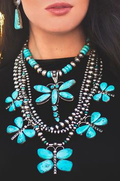 Cinco Mariposa in Blue Turquoise