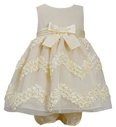 Bonnie Baby Baby Girls Chevron Bonaz Dress Yellow 12 Months *** For more information, visit image link.
