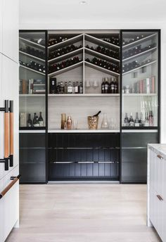 "Tour bellaMumma Nikki Yazxhi's stunning renovated home Butler's pantry & wine storage: This was high on the couple's wishlist for the new kitchen. ""Adam is an amazing cook, and we both love wi Pantry Storage, Wine Storage, Kitchen Storage, Kitchen Organization, Organization Ideas, Wine Bottle Storage Ideas, Dining Room Storage, Dining Room Bar, Record Storage"