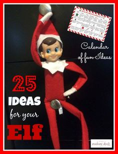 Need some ideas for your elf? Get this Calendar of fun Elf on the Shelf Ideas!