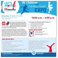 """DC-MD-VA -- Join @FitFathers today to help celebrate First Lady Michelle Obama's""""Let's Move"""" initiative as she hosts the first annualLet's Move!DC - Children and Families Health Expo at the Deanwood Rec - 1350 49th St NE, Washington, DC, 20019 -- The Children are going to love it!    #letsmovedc #fitfathers #fitkids #obama #flotus #healthy #washington #dc"""