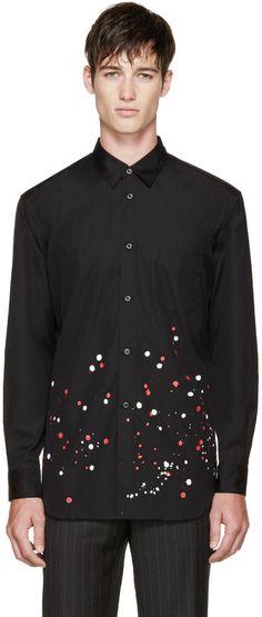 Comme des Garçons Shirt Black Paint Splash Shirt