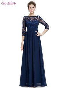 Free Shipping 2016 New Arrival Women's Elegant 3/4 Sleeve Lace Cheap Sexy Elegant On Line Long Formal Evening Dress