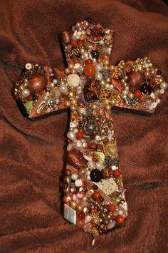 $45.00 Jeweled cross from etsy. Shopjaykay