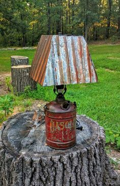 36 Lighting Ideas from Recycled Old Stuff  #diy #ideas #lamps #lighting #recycled