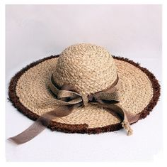 Ladies wide brim sun hat with bow for summer UV beach hats