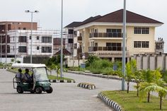 The private upper class compound of Banana Island in Lagos, Nigeria.