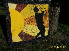 Themed, Novelty and Pictorial Quilts: The Jazz Player Quilt