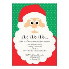Cute Santa Christmas Holiday Party Invitation