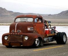 Radical looking Ford Cab Over Rat Rod