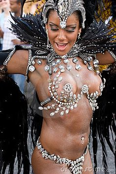 Dancer in the London Notting Hill Carnival Editorial Stock Image