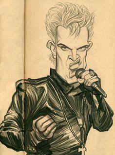 Billy Idol (by Zack Wallenfang)