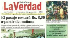 Diario La Verdad, año 17 #5.388, del jueves 14 de agosto de 2014   Notivargas