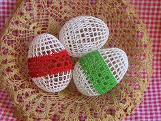 Thread Crochet Easter Eggs