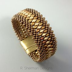 PDF TUTORIAL Kumihimo Beaded Cuff Bracelet by RShermanDesigns