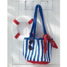 Lily® Sugar'n Cream® Nautical Striped Bag (Crochet)